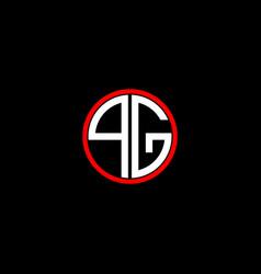 Q g letter logo creative design on black color vector