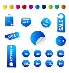 sale and promotion tag collection eps 10 vector image