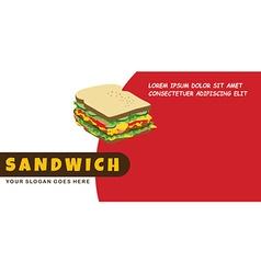 Sandwich food menu banner template vector