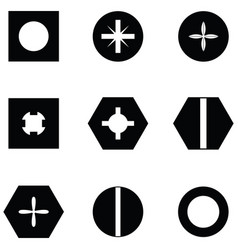 screw icon set vector image