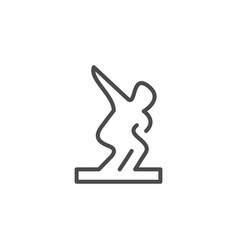 Sculpture line outline icon and art concept vector