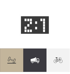 Set of 4 editable complicated icons includes vector