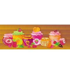 shelf with berries vector image