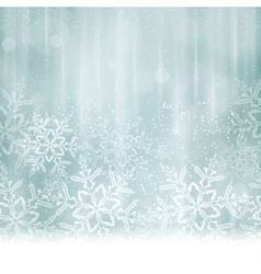 Silver blue snowflake winter background vector image