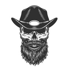 skull in the sheriff cap vector image
