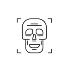 skull outline concept simple icon vector image