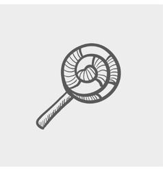Spiral lollipop sktech icon vector