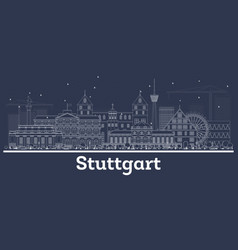stuttgart germany outline belize city skyline vector image
