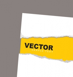 torn paper revela yellow vector image