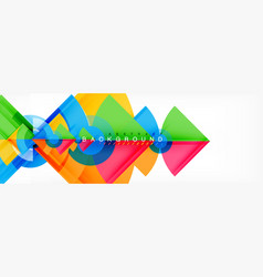 triangles and circle geometric background vector image