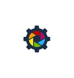wheel camera logo icon design vector image