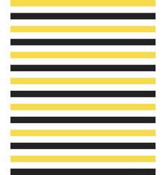 whiteyellow and black horizontal stripe pattern vector image