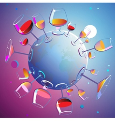 Wines planet vector image