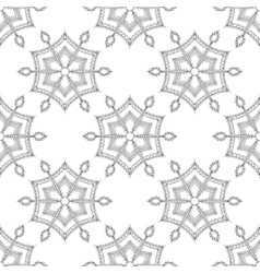 Zentangle stylized winter ice snowflake seamless vector