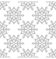 Zentangle stylized winter ice snowflake seamless vector image
