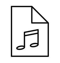 audio file thin line icon pictogram vector image