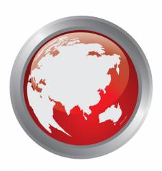 globe of the world button vector image