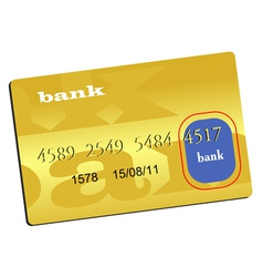 golden credit card vector image
