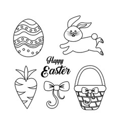 happy easter day icon vector image