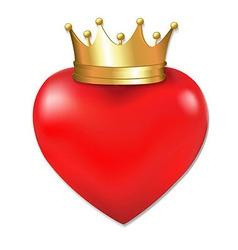 Heart In Crown vector image