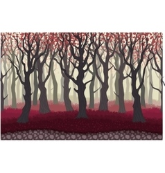 Parallax cartoon misterious forest landscape vector image