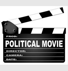 political movie clapperboard vector image vector image