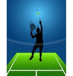 sport background tennis man vector image vector image