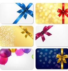 Gift Cards Big Set vector image