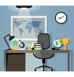 Office workplace design vector image vector image