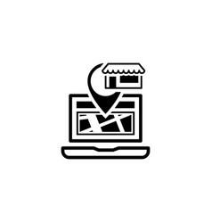 store location icon flat design vector image