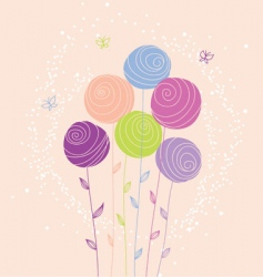 stylized flowers vector image vector image
