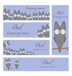 templates for the company the logo with the owl vector image