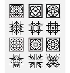 Tile element tribal celtic knot vector image vector image