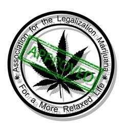 Approve marijuana vector image vector image