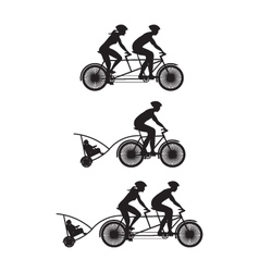 Bicycle Silhouette B vector image