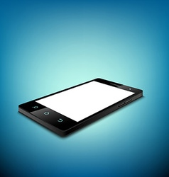 Black smartphone with white screen vector image