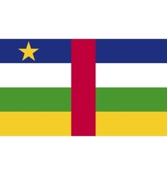 Central African Republic flag image vector image