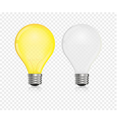 lightbulb realistic vector image
