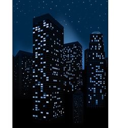 Night Cityscape Background3 vector image
