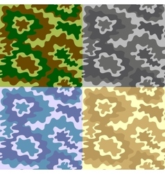 Army Soldier Camouflage Background Pattern Set vector image