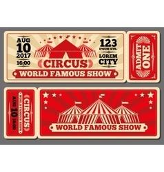 Circus magic show entrance tickets vector image