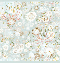 seamless pattern floral wallpaper vector image vector image