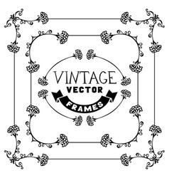 set of floral vintage frames vector image