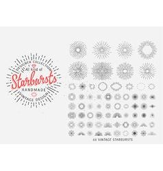 Sunburst design elements vector image