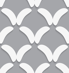 White bean shapes on gray pattern vector image vector image