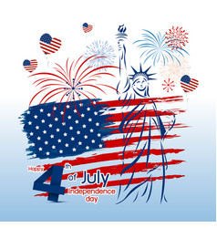 4 july independence day design vector