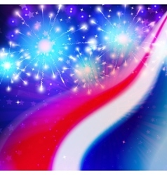 abstract american flag colors vector image