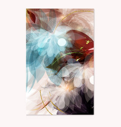 abstract brochure template in floral style vector image