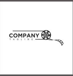 abstract cinema logo template design vector image
