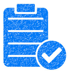 Approve list icon grunge watermark vector